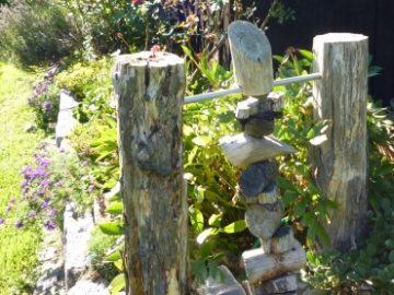 Holzkunst im Garten